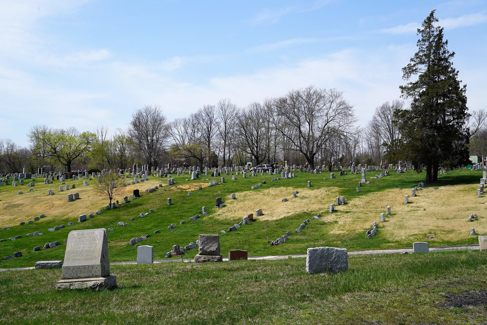 Above: Mount Zion Cemetery. Collingdale, PA. April 11, 2017