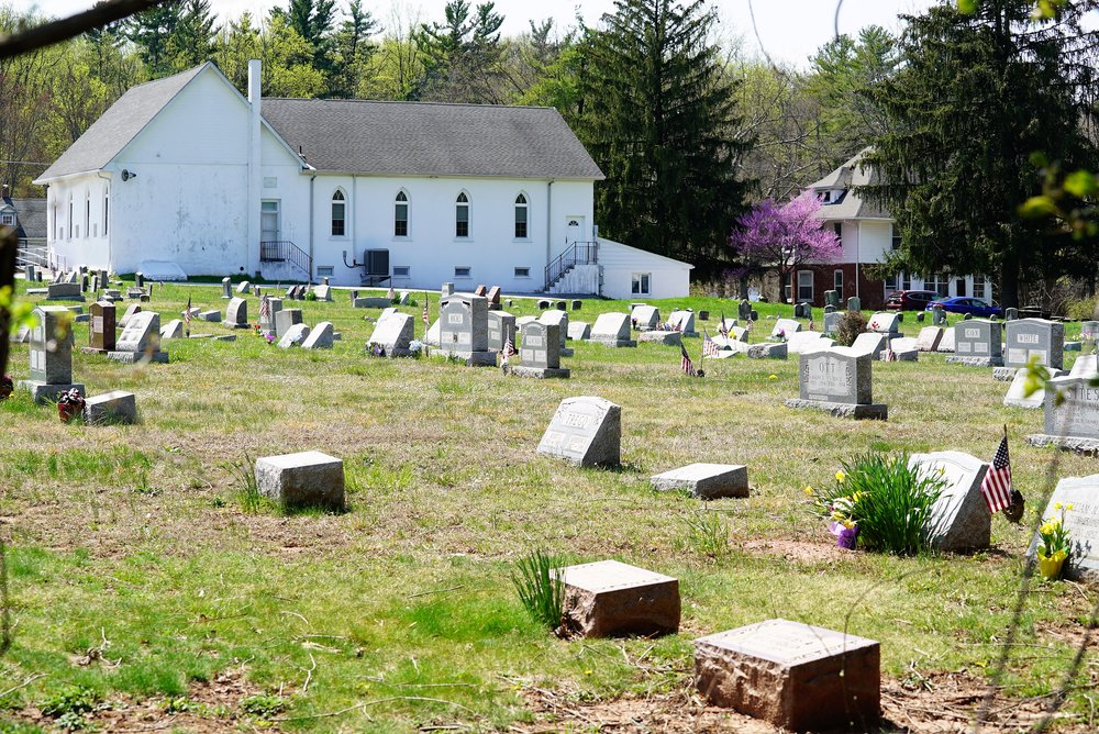 Burial space is still available: Valley Forge Baptist Church Cemetery. Valley Forge, PA.