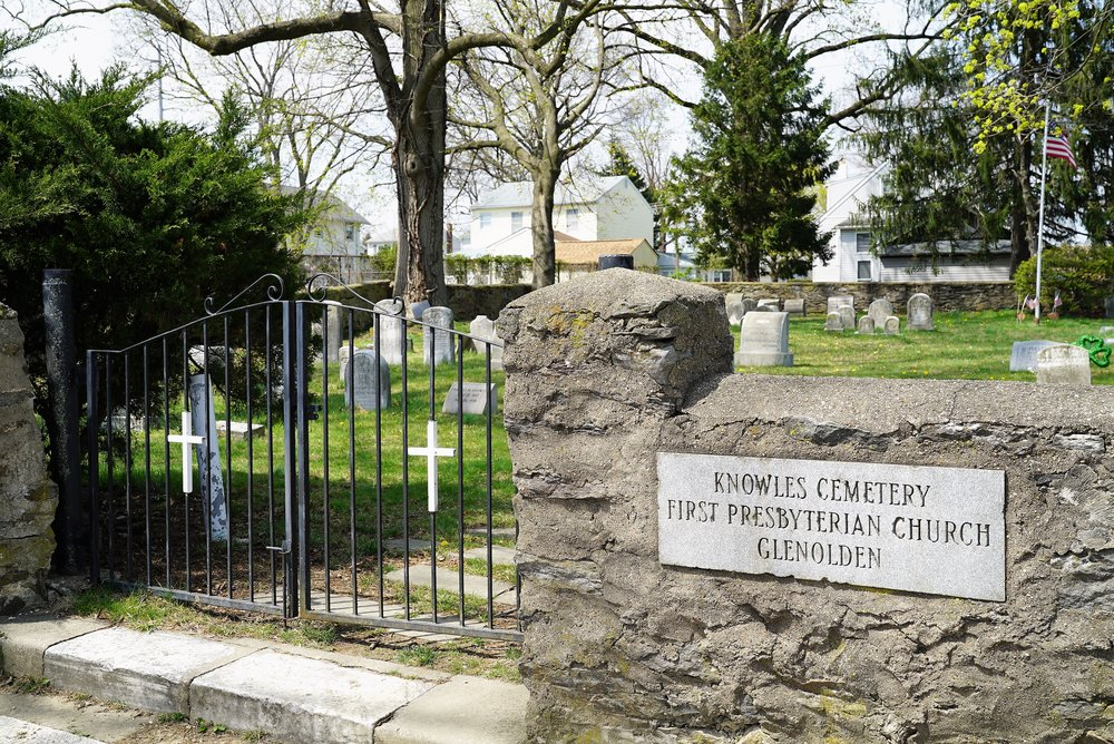 Entrance to Knowles Cemetery. Glenolden, Pennsylvania.