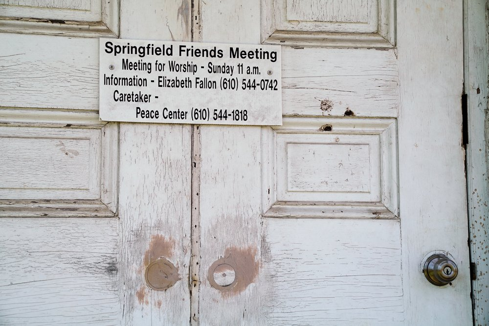 Entrance to the Springfield Friends Meeting House. Springfield, Pennsylvania.