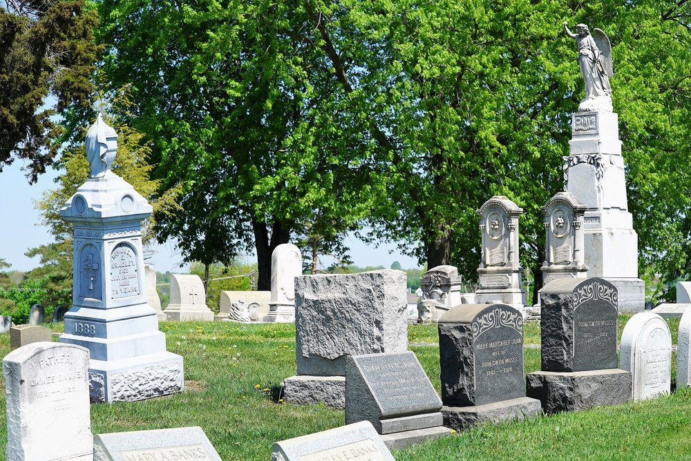 Tombstones at Morris Cemetery. Phoenixville, PA.