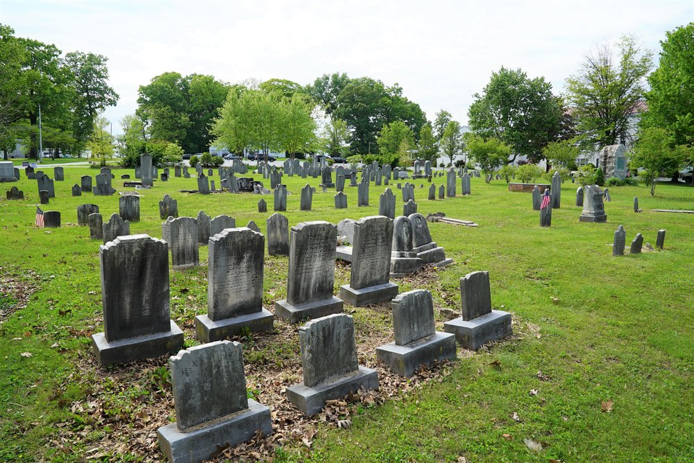Old section of the Zion Lutheran Church Cemetery. Spring City, Pennsylvania.