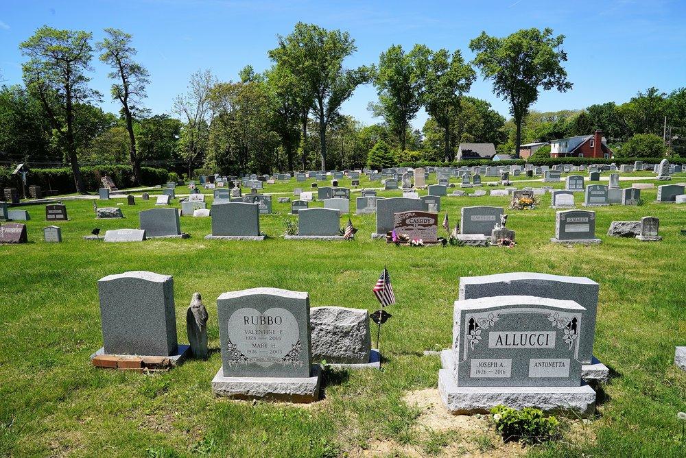 The Church of Saint Monica Cemetery. Berwyn, Pennsylvania.