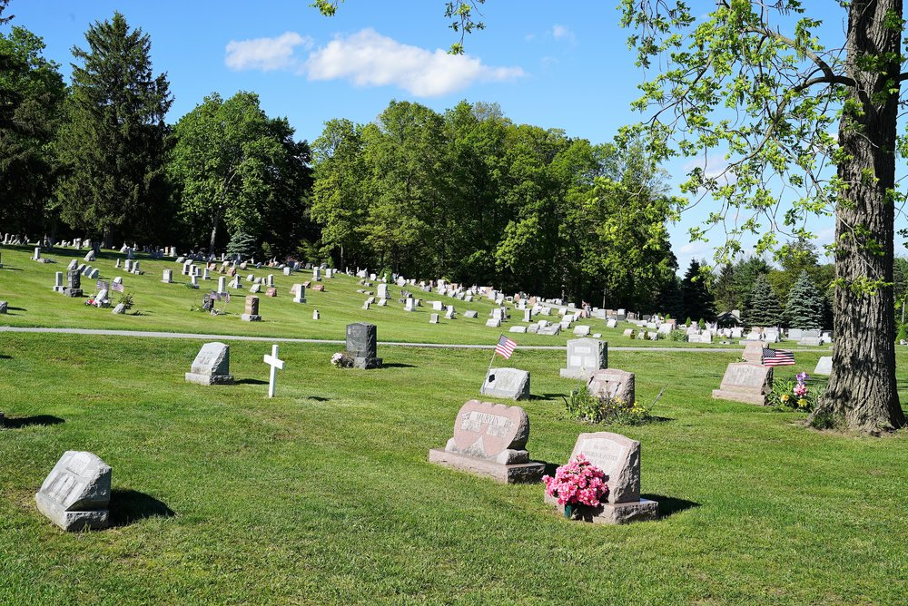 Hephzibah Baptist Church Cemetery. East Fallowfield, Pennsylvania.