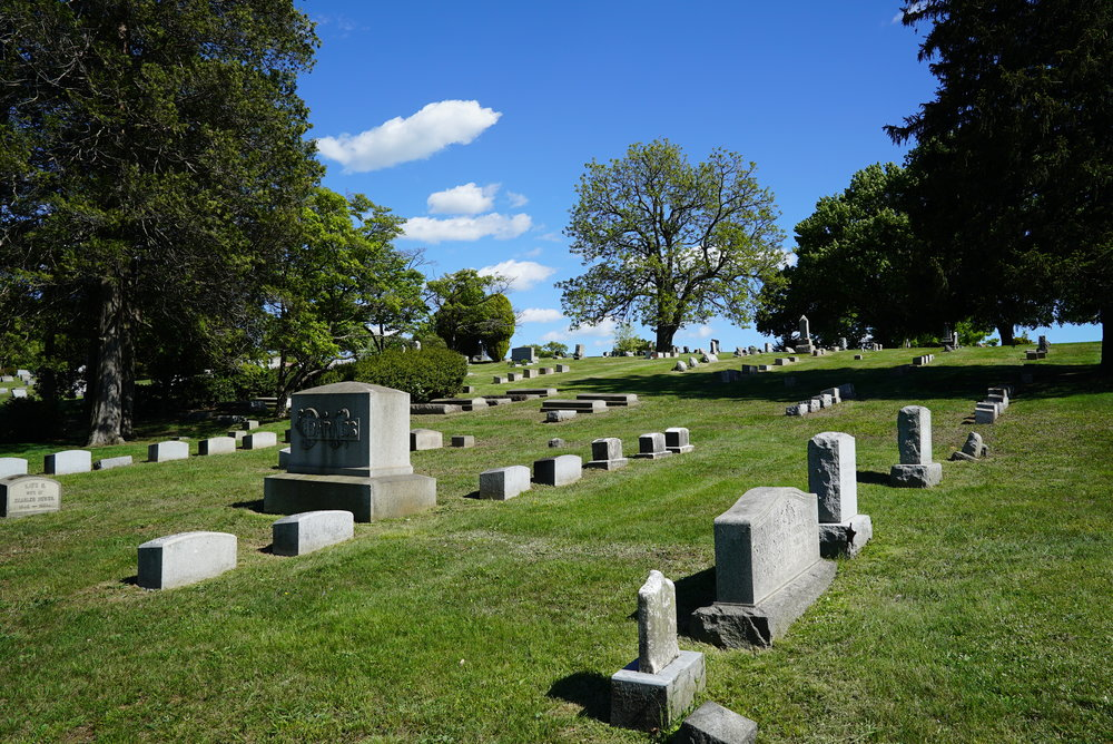 One of the vistas at Fairview Cemetery. Coatesville, Pennsylvania.