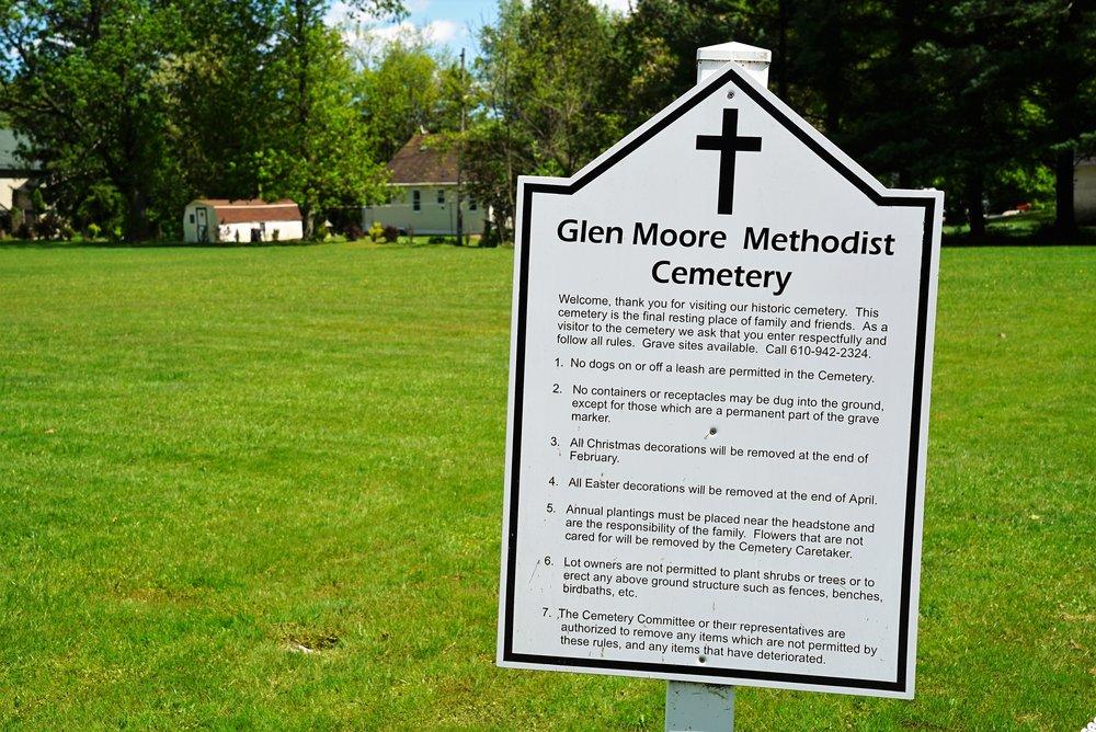 Glen Moore Methodist Church Cemetery. Glen Moore, Pennsylvania.