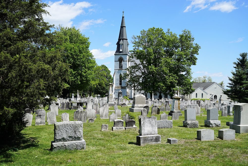 Forks Of The Brandywine Presbyterian Church Cemetery. Glen Moore, Pennsylvania.