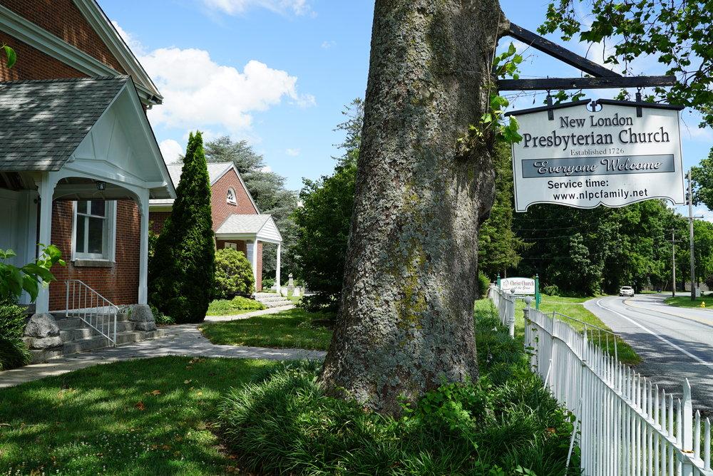 New London Presbyterian Church Cemetery. New London Township, Pennsylvania.