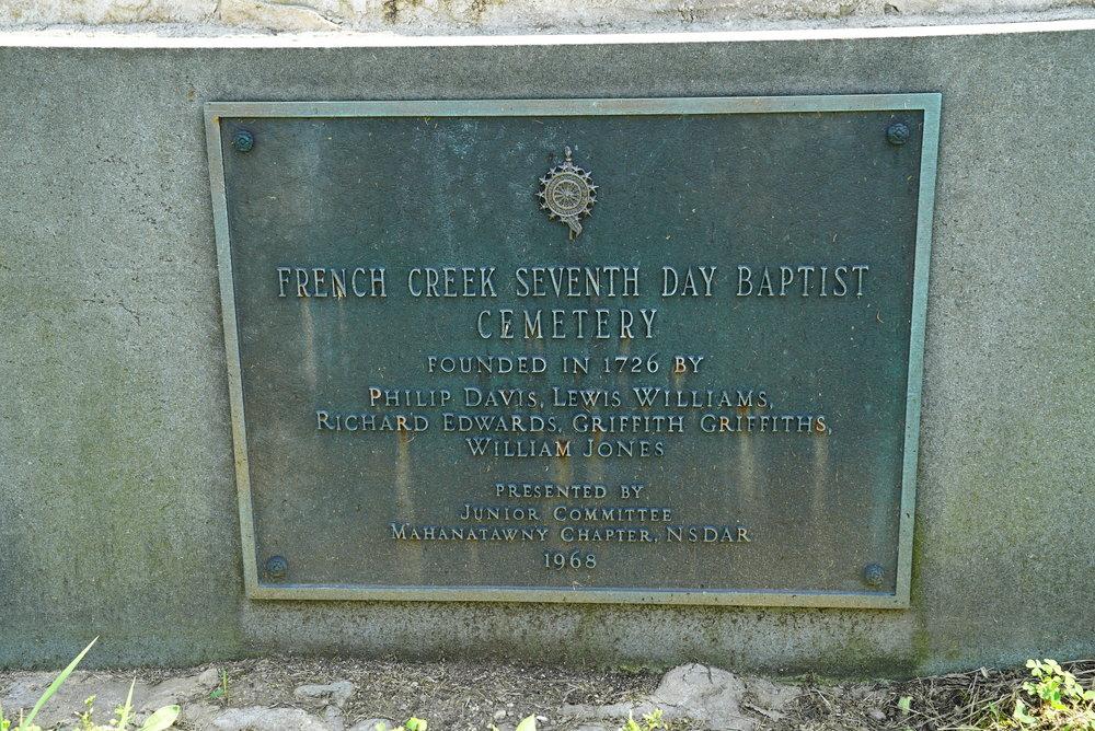 French Creek Seventh Day Baptist Cemetery. Knauertown, Pennsylvania.