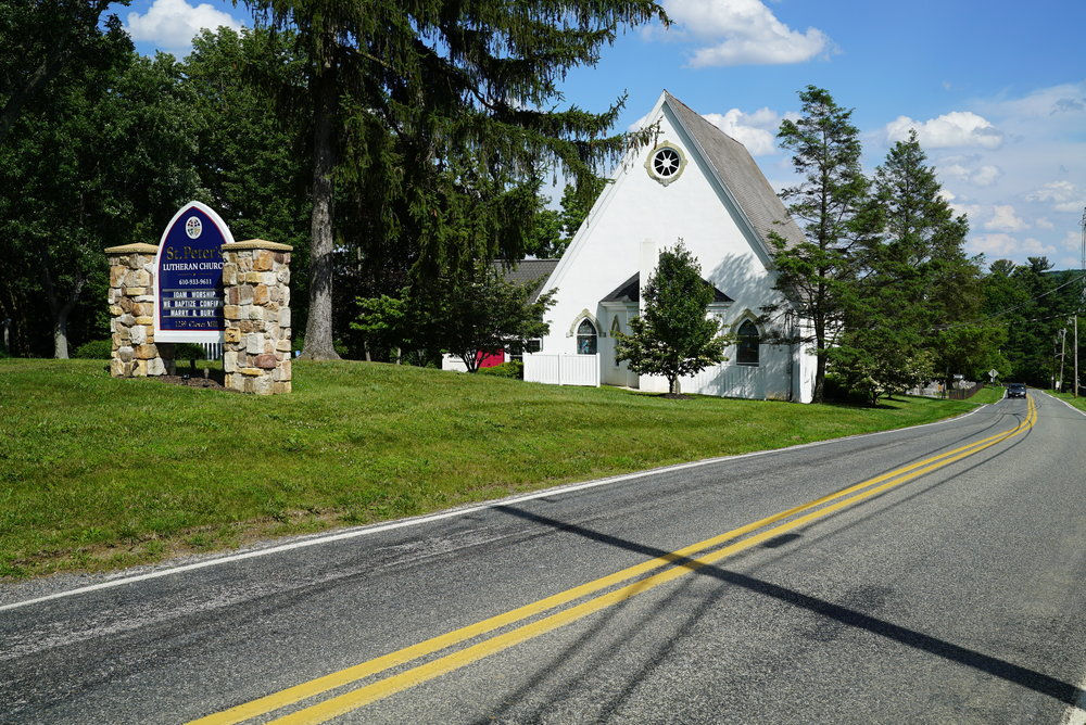 St. Peter's Lutheran Church. Chester Springs, Pennsylvania.