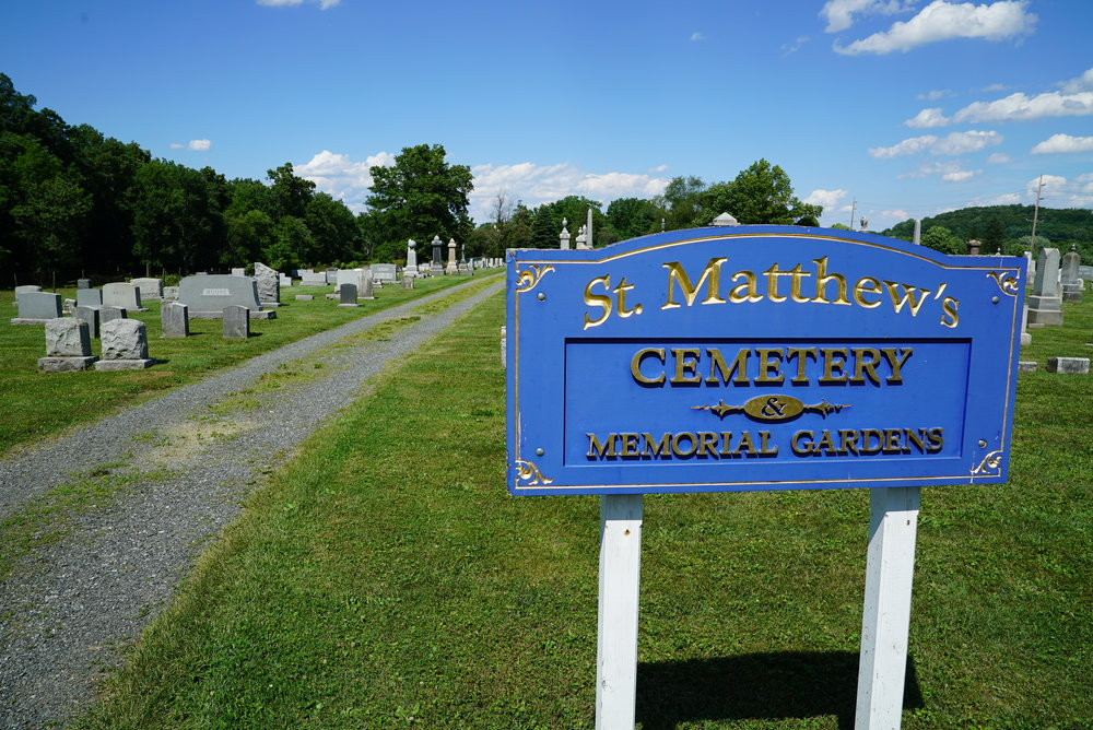 St. Matthew's Lutheran Church Cemetery. Chester Springs, Pennsylvaina.