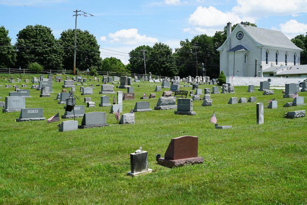 St. Paul's United Church Of Christ Cemetery. Exton, Pennsylvania.