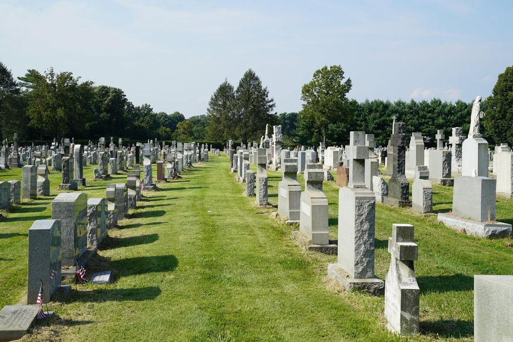 St. Mary's Ukrainian Cemetery. Fox Chase, Pennsylvania.