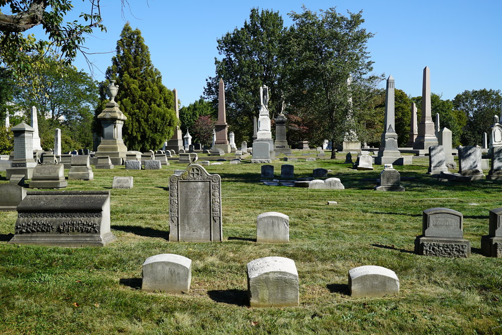 One of the views at the Woodlands Cemetery. Philadelphia, Pennsylvania.