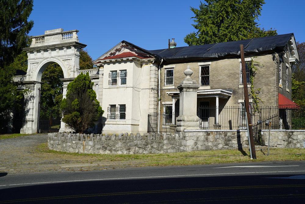Mount Vernon Cemetery. It's locked-up and thoroughly neglected. Philadelphia, Pennsylvania.