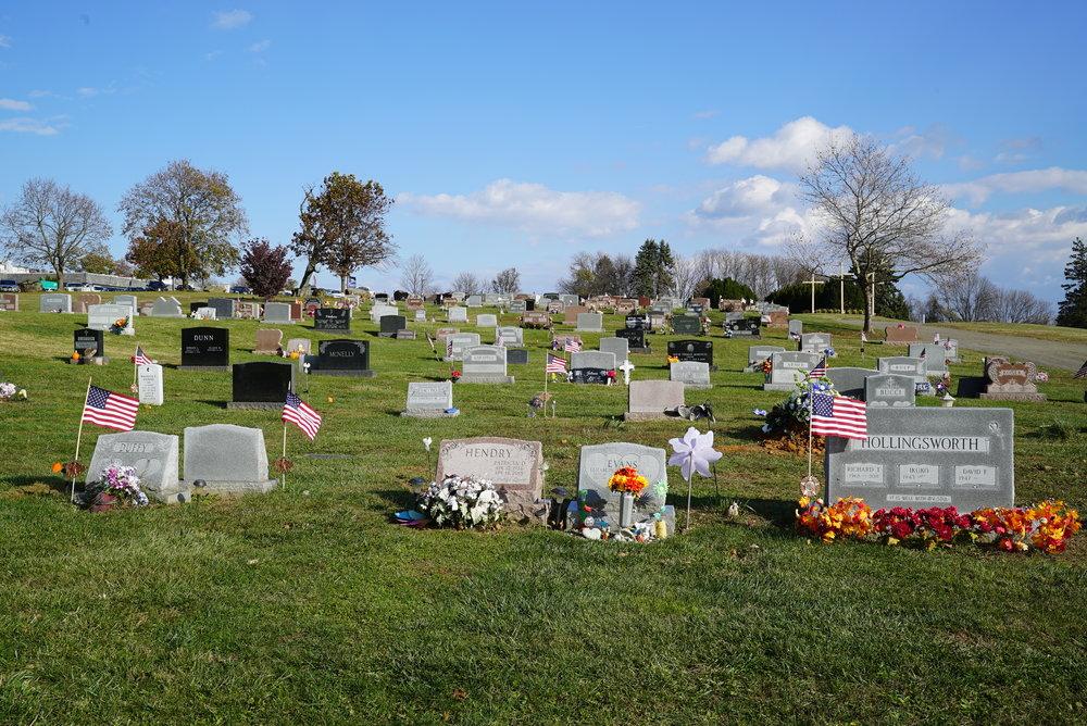 Mount Hope Cemetery. Aston, Pennsylvania. November 16, 2017.