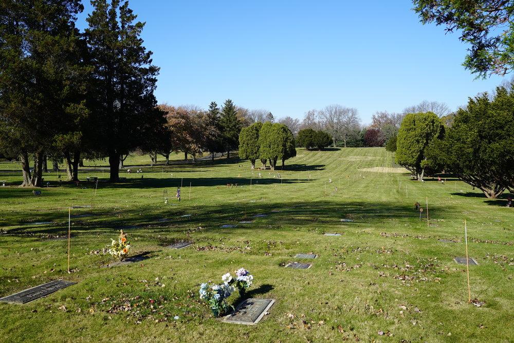 Edgewood Memorial Park Cemetery. Concord Township, Pennsylvania.