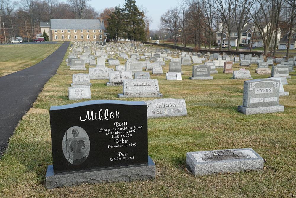 One of the more unusual headstones at Doylestown Mennonite Church Cemetery. Doylestown, Pennsylvania.