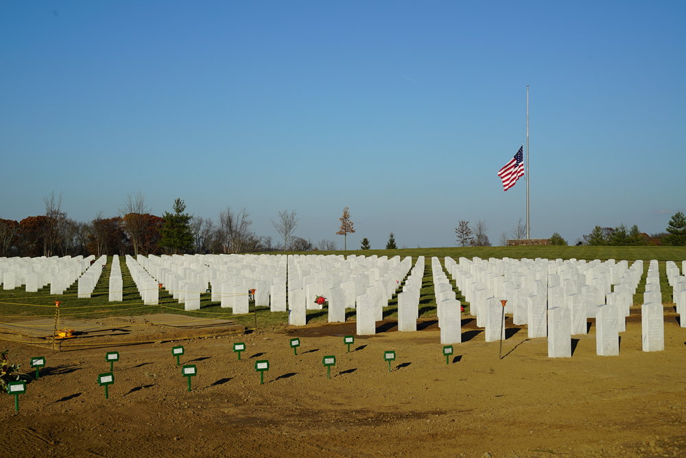 New section. Washington Crossing National Cemetery. Upper Makefield, Pennsylvania.