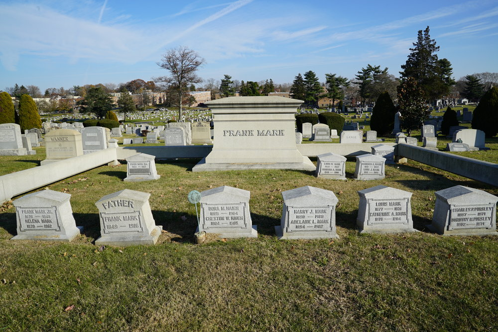 A family burial lot. Northwood Cemetery. Philadelphia, Pennsylvania.