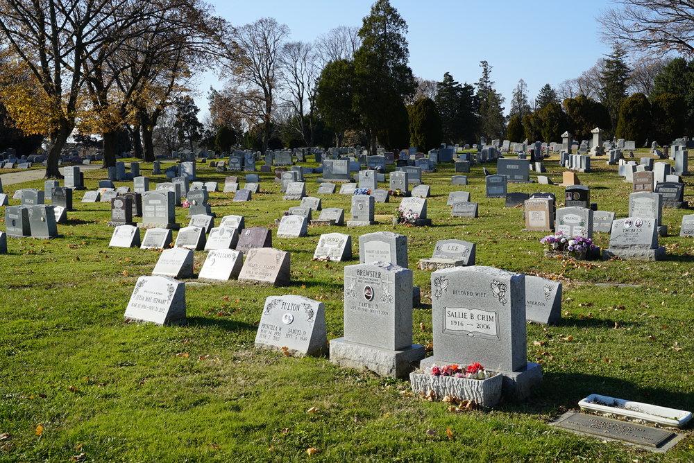 Chelten Hills Cemetery. Philadelphia, Pennsylvania.