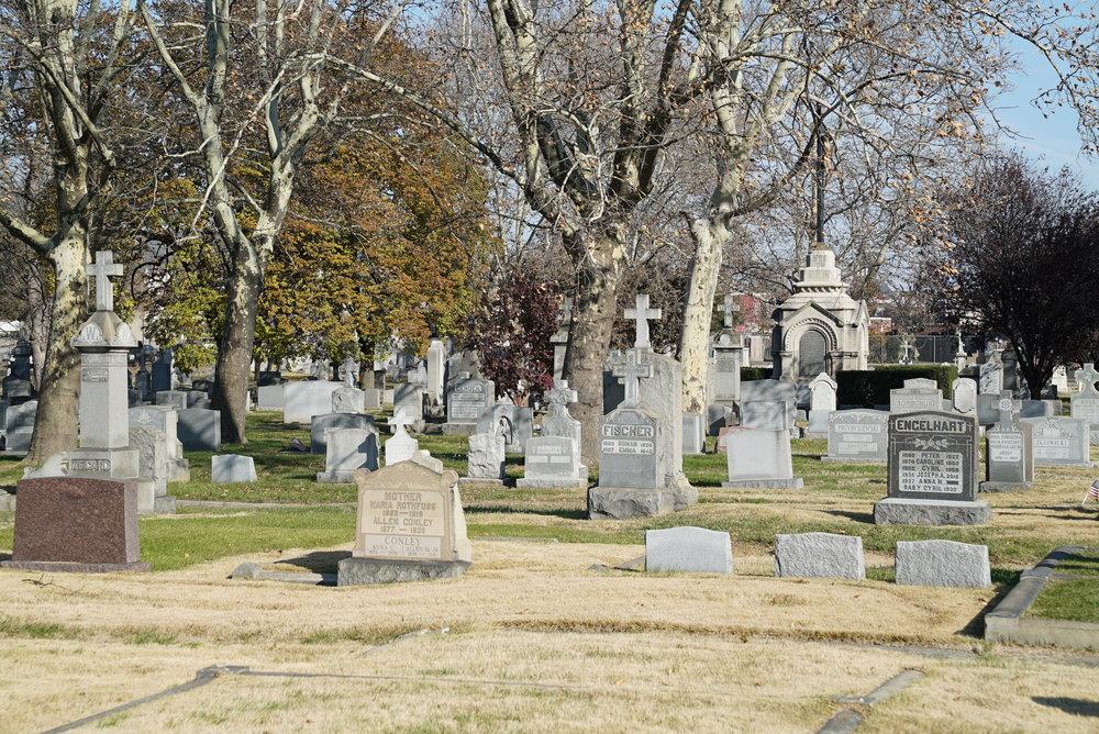 Most Holy Redeemer Cemetery. Bridesburg section of Philadelphia, Pennsylvania.