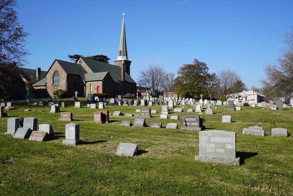 Emmanuel Resurrection Episcopal Church Cemetery. Holmesburg section of Philadelphia, Pennsylvania.