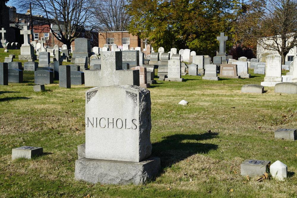 Emmanuel Resurrection Episcopal Church Cemetery. Philadelphia, Pennsylvania.