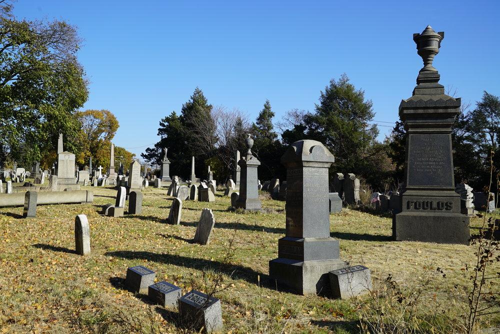 Cedar Hill Cemetery. Located in the Frankford section of Philadelphia, Pennsylvania.