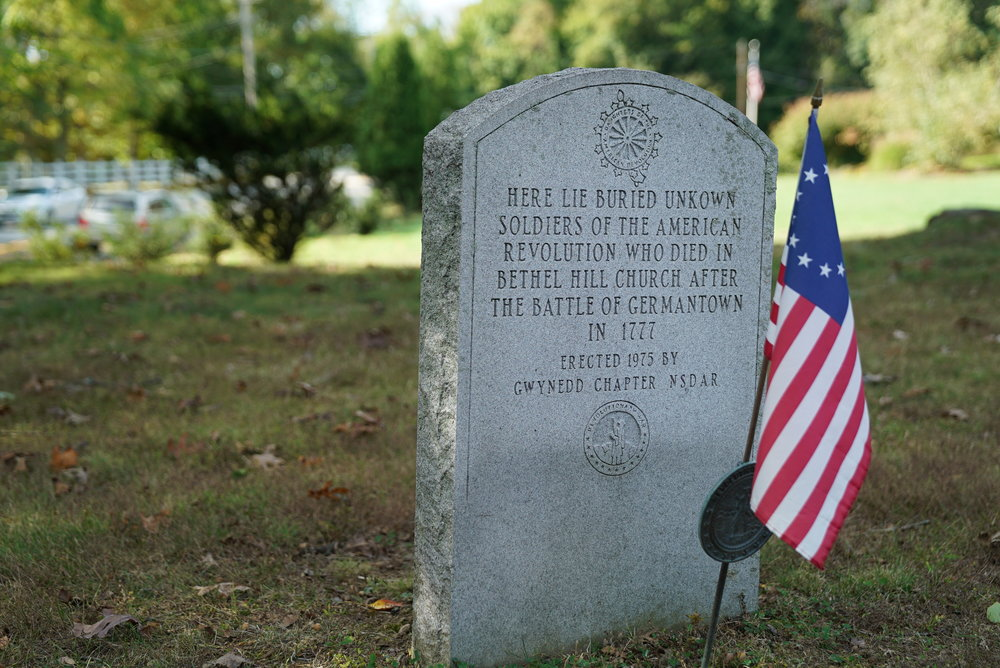 An unknown soldiers tombstone. Bethel Hill Methodist Episcopal Graveyard. Lansdale, Pennsylvania.