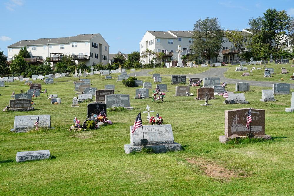 Saint Johns Greek Catholic Cemetery. Pottstown, Pennsylvania.