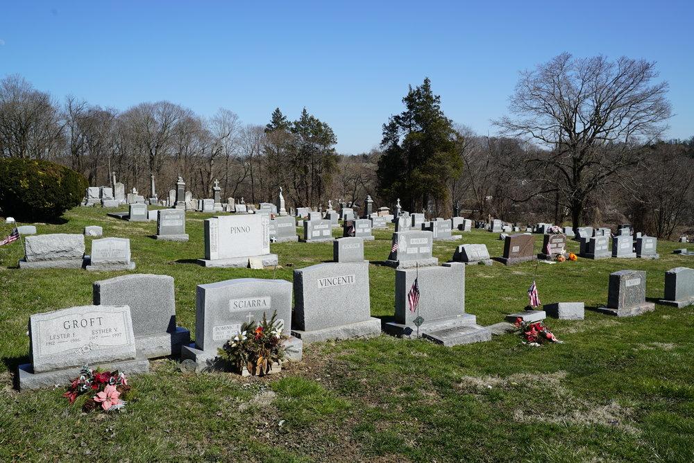St. Mary's Cemetery. West Grove, Pennsylvania. Chester County.
