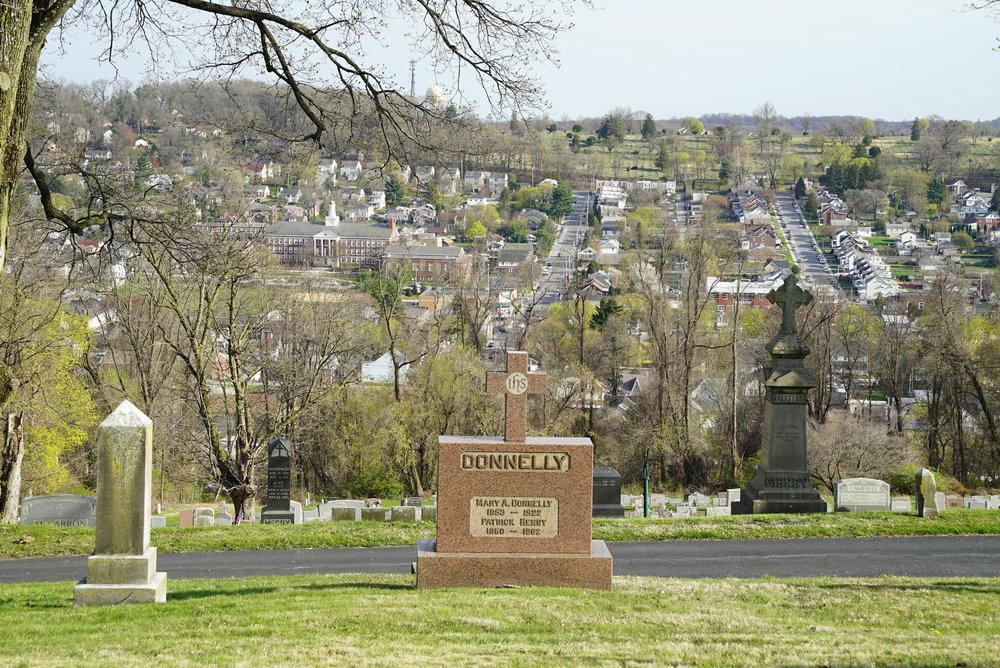 St. Cecelia Church Cemetery. Coatesville, Pennsylvania.