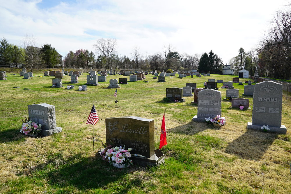 Holy Ghost Ukrainian Cemetery. Coatesville, Pennsylvania.
