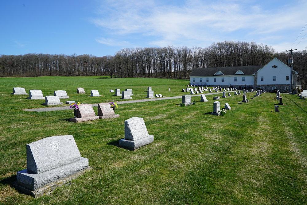 Maple Grove Mennonite Church Cemetery. Atglen, Pnnsylvania.