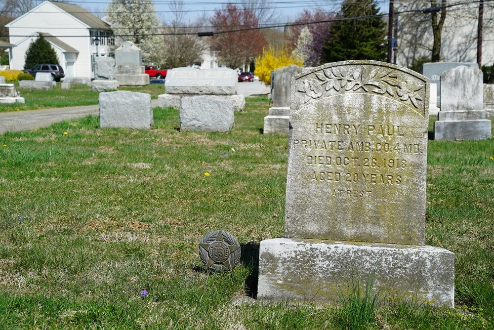 Tombstone at Pennington Presbyterian Church Cemetery. Atglen, Pennsylvania.