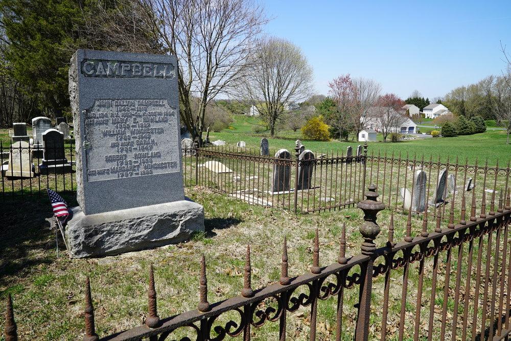Impalement risk at Nottingham Cemetery. Nottingham, Pennsylvania.