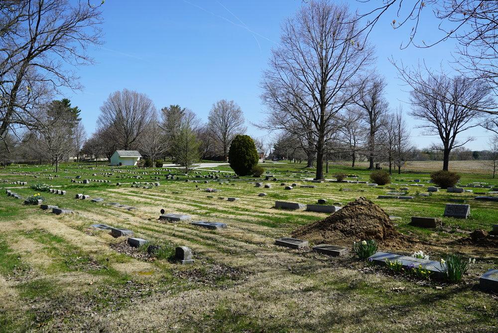 New Garden Friends Meeting Cemetery. Toughkenamon, Pennsylvania.