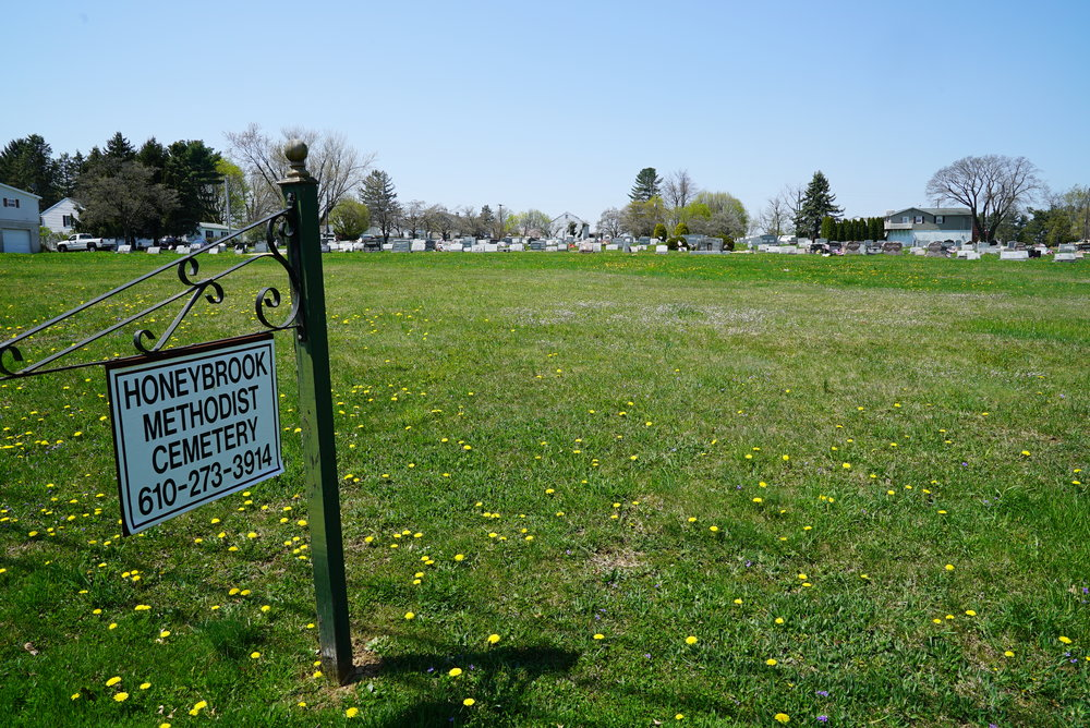 Abundant burial space still available. Honey Brook United Methodist Church Cemetery.