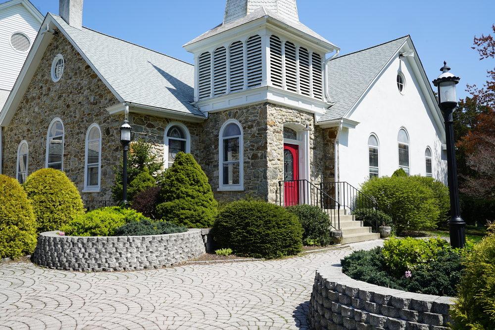 The church at Goodwill United Methodist Cemetery. Elverson, Pennsylvania area.