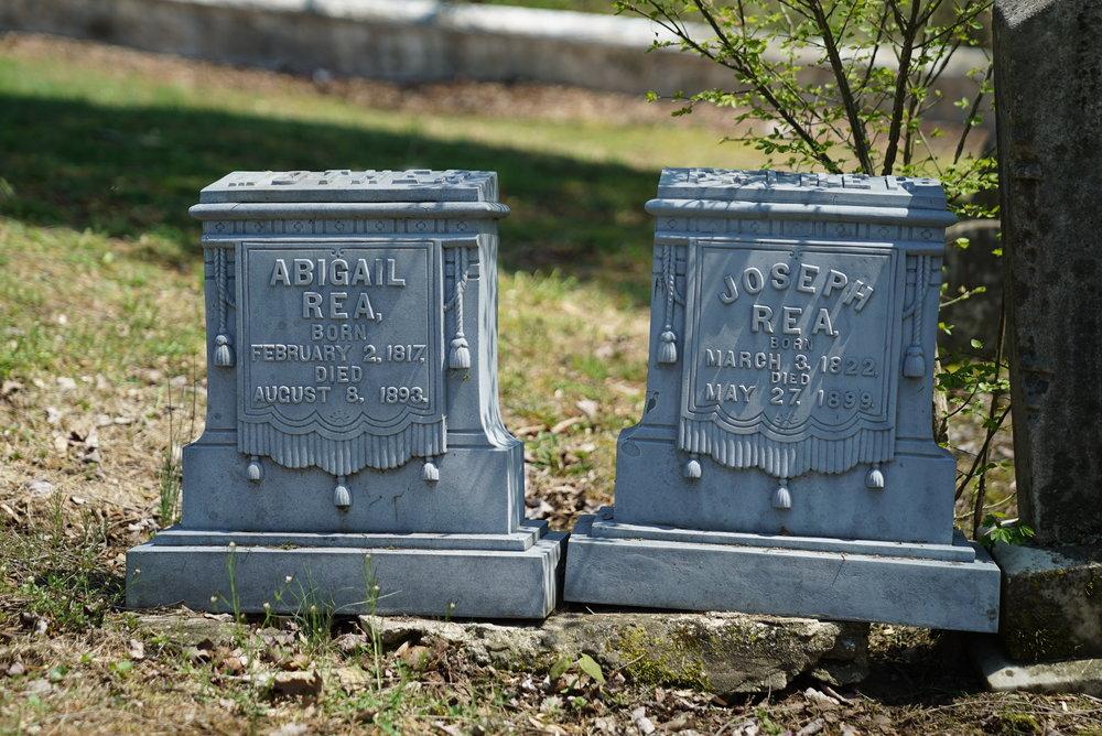 Unusual antique metal tombstones. Goodwill United Methodist Cemetery. Elverson, Pennsylvania area.