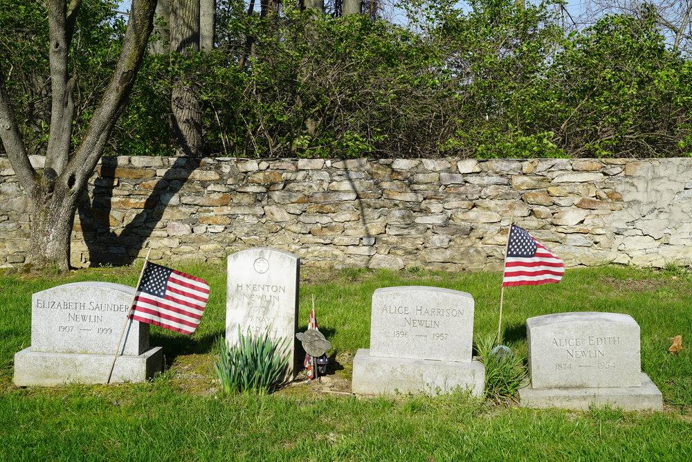 Tombstones at St. Paul's Episcopal Church Cemetery. Exton, Pennsylvania.