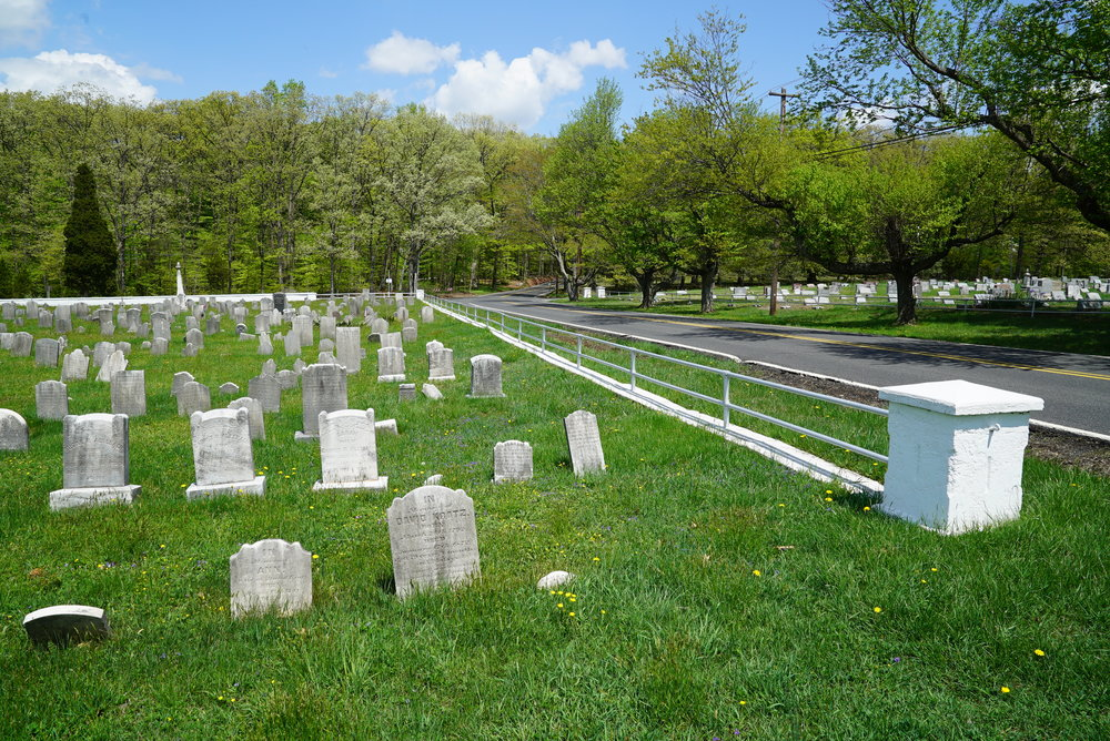 The old section of Lower Skippack Mennonite Church Cemetery