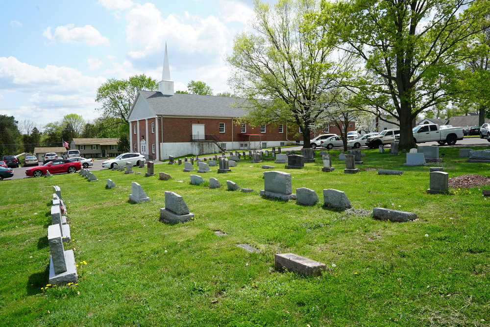 The cemetery at Romanian Baptist Church of the Greater Philadelphia area.