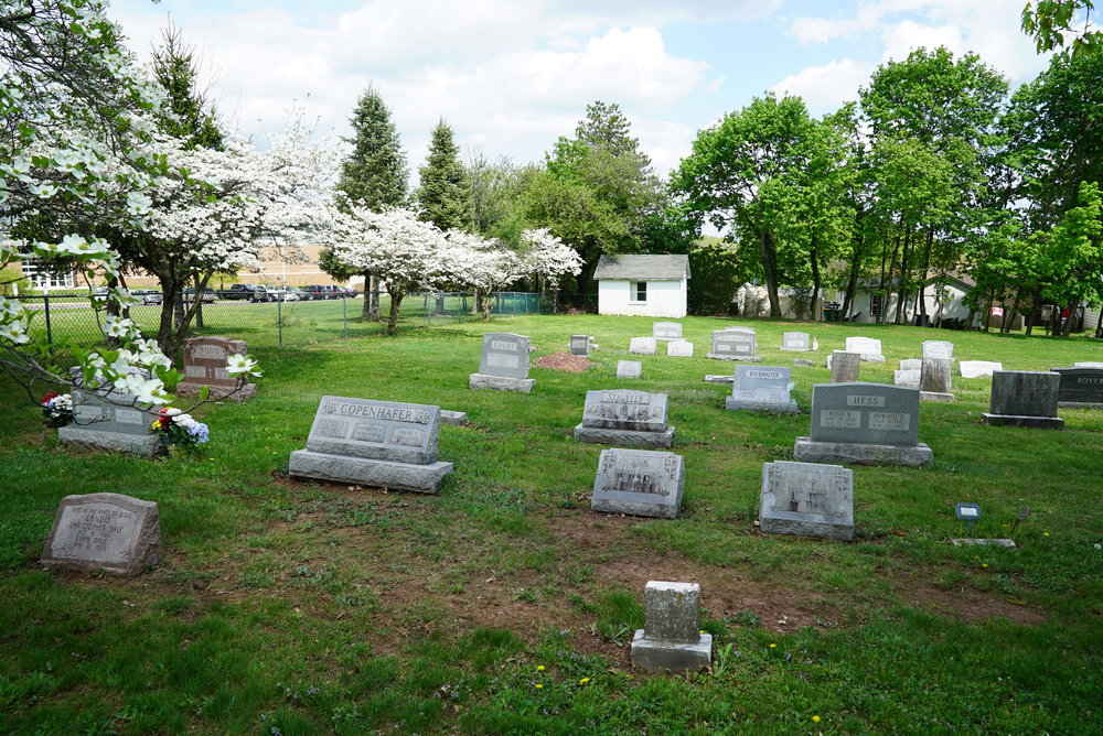 The cemetery at Romanian Baptist Church of the Greater Philadelphia area. Collegeville, Pennsylvania area.