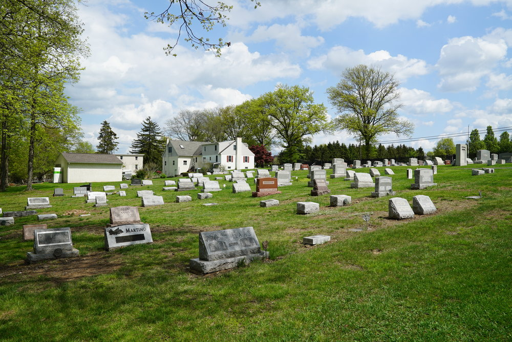Schwenksville Cemetery, also known as Keely's Church Cemetery. Montgomery County, Pennsylvania.