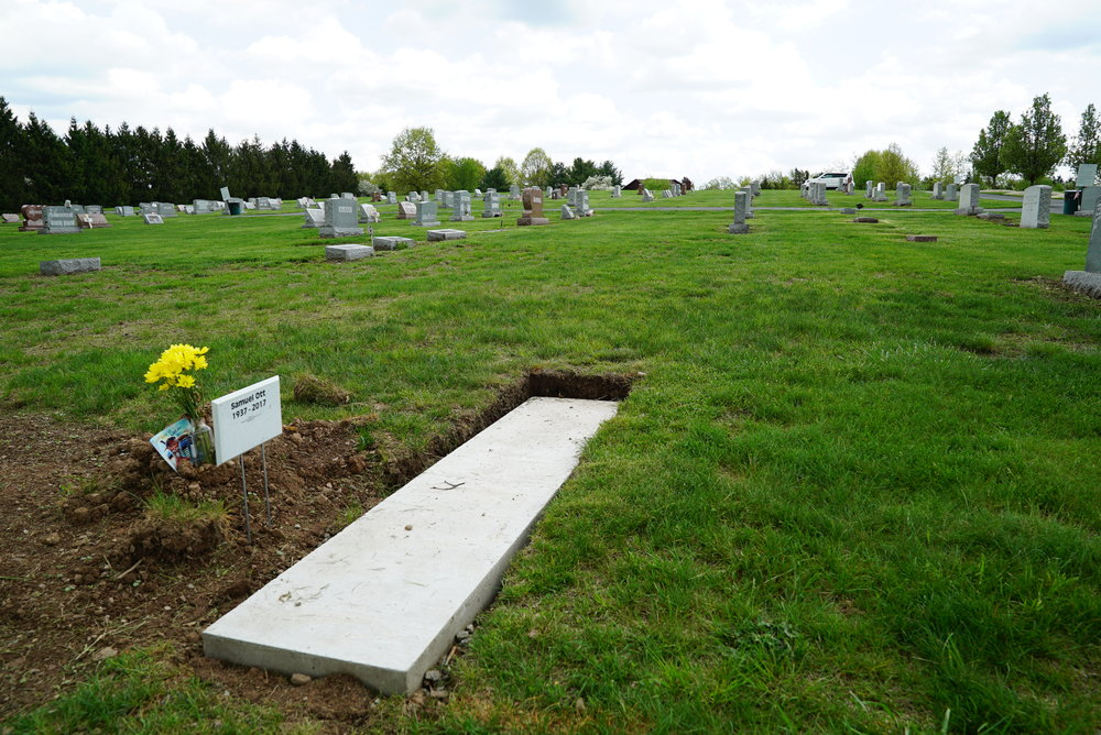 They do foundations right. High standards at Schwenksville Cemetery, a.k.a. Keely's Church Cemetery.