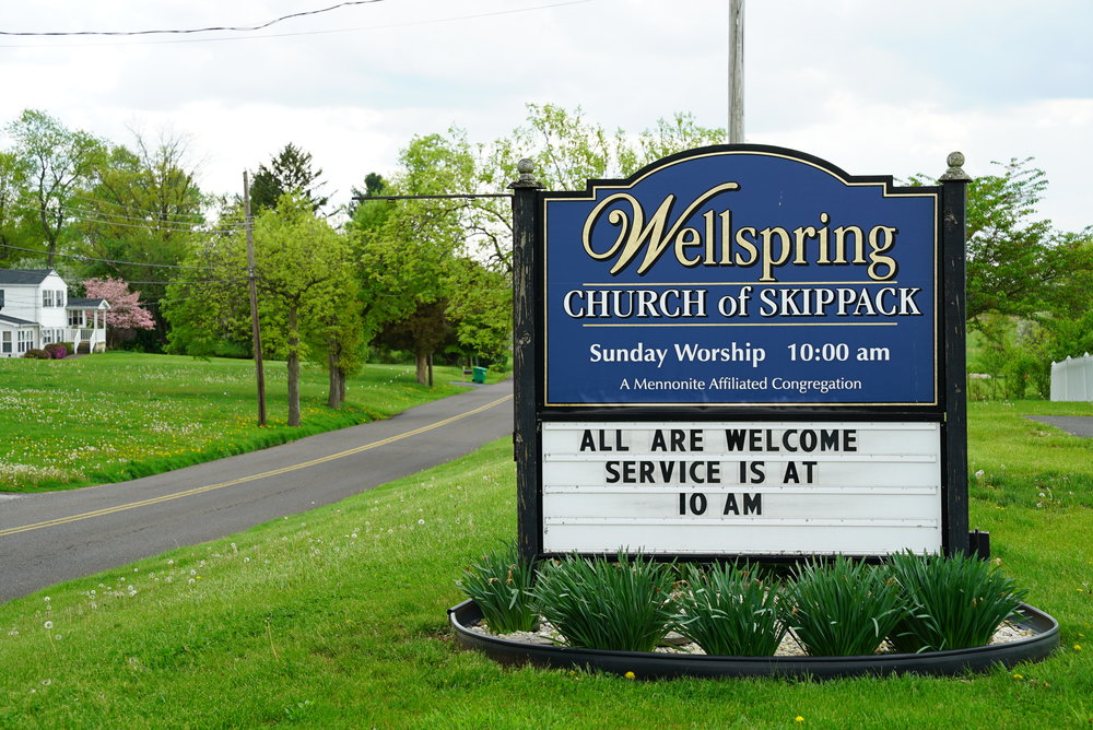 Wellspring Church of Skippack is next to Upper Skippack Mennonite Cemetery