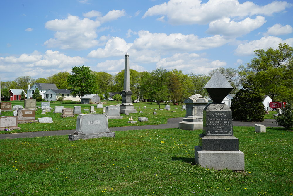 Little Zion Lutheran Church Cemetery, also known as Indianfield Cemetery. Telford, Pennsylvania.