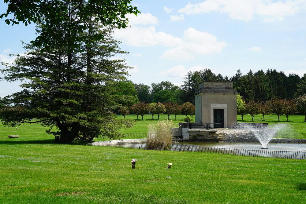 Whitemarsh Memorial Park Cemetery. Ambler, Pennsylvania.